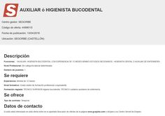 OFERTA EMPLEO AUXILIAR ó HIGIENISTA BUCODENTAL EN SEGORBE - tribuna segorbina