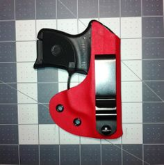 Ruger LCP, RED, Handmade Custom, Concealed Carry, Kydex Holster (IWB)