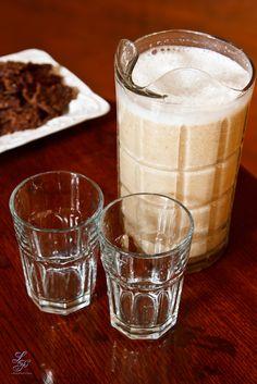 Raw almond milk....