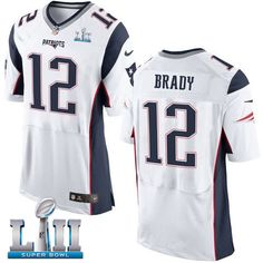 Nike Patriots 12 Tom Brady White 2018 Super Bowl LII Elite Jersey Patriots  Memes 56ce0c94c