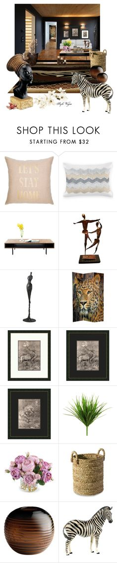 """""""Decor - African inspiration"""" by lamipaz ❤ liked on Polyvore featuring interior, interiors, interior design, home, home decor, interior decorating, INC International Concepts, Cyan Design, Iconic Pineapple and New Growth Designs"""