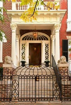 awonderfulpalmettolife Monument Ave. (via TumbleOn) & Timothy Corriganu0027s Los Angeles Home | Brick steps Green front doors ...