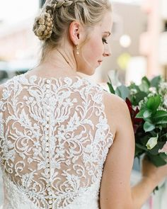How about that for an illusion back?! Although Amandas veil was to die for Im glad we got to snag a few photos of the back of her dress too. She literally looked like a princess!
