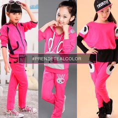 #PrendeteAlColor Para nenas fanáticas del rosa ¡conjuntos deportivos para estar cómodos y a gusto!