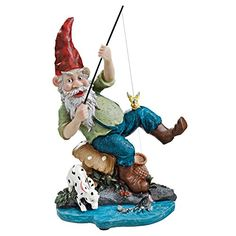 Outdoor Décor Design Toscano Gone Fishing Garden Gnome Statue    More Info  Could Be