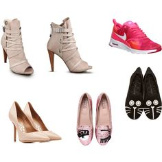 A fashion look from March 2015 featuring strappy booties, black buckle booties and cat flats shoes. Browse and shop related looks. Oxford Shoes, Shoe Bag, My Style, Spring, Heels, Accessories, Collection, Design, Women