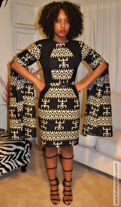 2nd Ankara Print Dress [Butterick 6088] with Bell Sleeves this time!