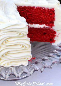 The BEST Red Velvet Cake Recipe by MyCakeSchool.com!