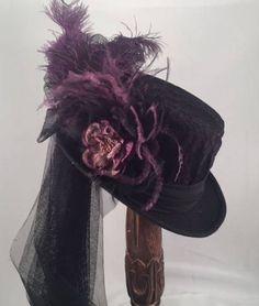Steampunk Fashion, Gothic Fashion, Victorian Fashion, Fashion Fashion, Victorian Hats, Victorian Steampunk, Top Hats For Women, Women Hats, Tea Hats