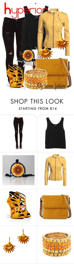 """""""Hyperion"""" by heroes-fashion ❤ liked on Polyvore featuring Monki, Danier, Giuseppe Zanotti, STELLA McCARTNEY, Chen Fuchs Jewelry and BaubleBar"""
