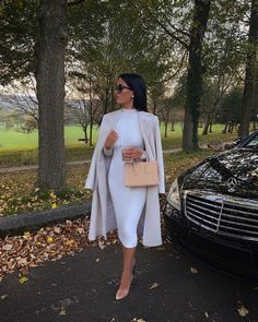 All White Outfit, White Outfits, White Dress, Classy Outfits For Women, Stylish Outfits, Look Fashion, Winter Fashion Outfits, Womens Fashion, Luxury Fashion