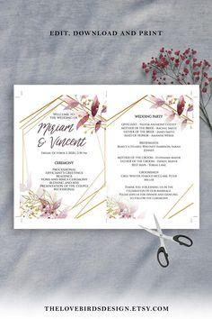Wedding Program Template Free, Free Wedding Templates, Printable Wedding Programs, Wedding Program Fans, Wedding Fans, Diy Wedding, Wedding Stuff, Wedding Ideas, Wedding Planning Guide
