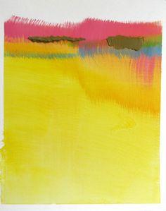 "Colorful Abstract Landscape Art, 8 x 10 original fine art -- ""Painting 185"""