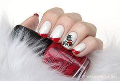 Mistletoe nail art from Mari's Nail Polish Blog