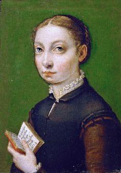 Sofonisba Anguissola Self portrait with open book [1554] - Vienna KHM - massacritica-foto