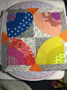 Quilting Board, Quilting Ideas, Quilting Designs, Quilt Patterns, Circle Game, Half Circle, Drunkards Path Quilt, Patchwork Ideas, Jan 2017