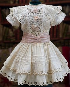 Antique French Muslin Dress and Slip