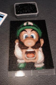 Luigi perler bead art by sajaaaa