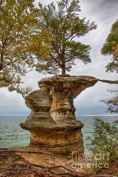 Chapel Rock, Pictured Rock National Lakeshore,Pure Michigan,fall,autumn,