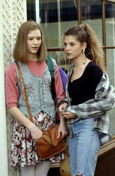 floral skirts, crocheted vests, leather satchels and flannel galore. Yeah the 90's were not a total flop.