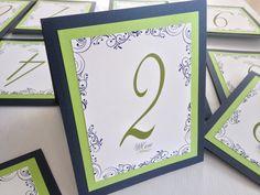 Numeros de mesa que complementan las mesas de las bodas / wedding table numbers