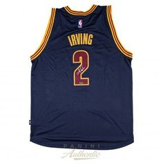 KYRIE IRVING Autographed Cleveland Cavaliers Navy Adidas Swingman Jersey PANINI - Game Day Legends