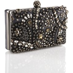 Moyna Beaded Framed Clutch ($298) ❤ liked on Polyvore