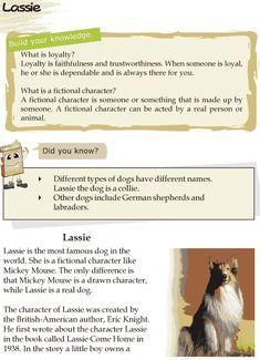 Grade 4 Reading Lesson 24 Biographies – Lassie