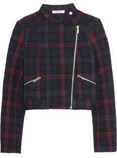Pin for Later: Shopping: Et Si On Se Mettait Au Tartan? Elizabeth and James Veste en jersey à motif tartan matelassée (390€)