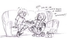 I can't imagine how banged up Dipper was after he got his body back. Cute/funny sibling moment after Sock Opera.