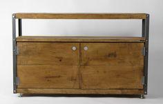 1.2m Oak INDUSTRIAL TV Stand, Console Cupboard [Bespoke sizes!] Rustic Reclaimed by KONKfurniture on Etsy https://www.etsy.com/uk/listing/242060951/12m-oak-industrial-tv-stand-console