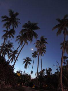 Nightfall at Fiji Mana Island.  www.etsy.com/shop/HuaHuaAtelier