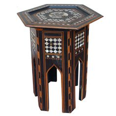 Antique Syrian Mother of Pearl Table
