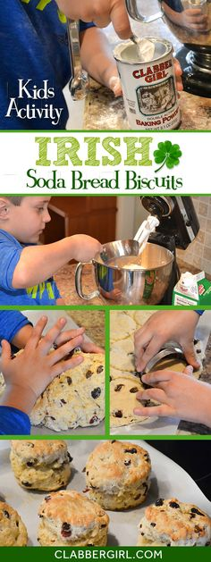 Fun activity to have the kids help with! Make Irish soda bread biscuit style with your favorite add-ins.