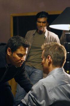 Still of Jack Coleman, Greg Grunberg and Sendhil Ramamurthy in Heroes