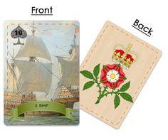 Clover ~ Sunny Field of Clover Tarot, Knight, Bouquet, Flowers, Axe, English, Ship, Garden, Garten