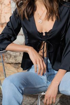 Lilah Top - Noir – Style Addict