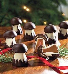 Michel Cluizel chocolate mushrooms