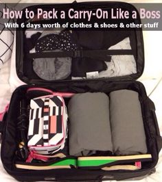 How To Pack A Carry On Bag 6days Worth Of Items! No More Suitcase Fees!  #Travel #Trusper #Tip