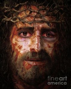 The ultimate expression of the Love of God found in the willing, living sacrifice of Christ Jesus. A love as had never been seen or known by man before it's time. Painting by Todd L Thomas Copyright Secured. Jesus Suffering, La Passion Du Christ, Jesus Movie, Jesus Artwork, Jesus Christ Images, Jesus Face, Jesus Pictures, Jesus Is Lord, Jesus Loves You