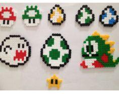 Personnages de Super Mario perles Hama--accessoires divers