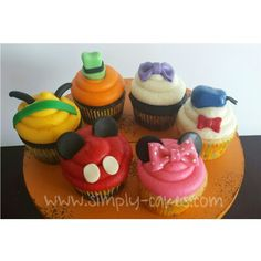 Mickey mouse Clubhouse cupcakes - Mickey Mouse, Minnie Mouse, Pluto, Goofy, Daisy Duck and Donald Duck Www.facebook.com/simplycakes.brittneyshiley