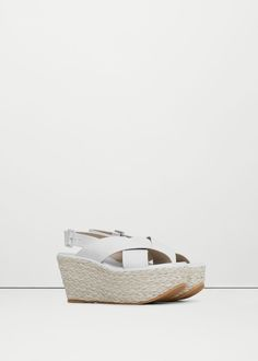 Premium - sandalia piel plataforma   MANGO