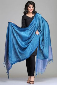 Image result for blue black dress solid raw silk