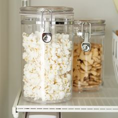 Classic hermetic acrylic canisters are practical and beautiful options for storing food. The airtight seal keeps food fresh. Weekly House Cleaning, Breakfast Sandwich Maker, Custom Shelving, Everyday Dishes, Glass Canisters, Vintage Bottles, Container Store, Spice Jars, Apothecary Jars