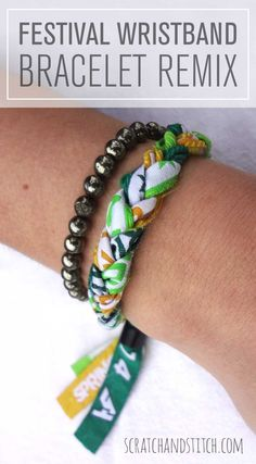 Show off your favorite 2015 festival fashion with this DIY bracelet using your wristbands! Summer Music Festivals, Bracelets, Diy Bracelet, Festival Fashion, Refashion, Diy Fashion, Diy Jewelry, Headbands, Create