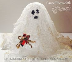 Day 5 of the 12 Days of Halloween Fun: Gauze/Cheesecloth Ghost