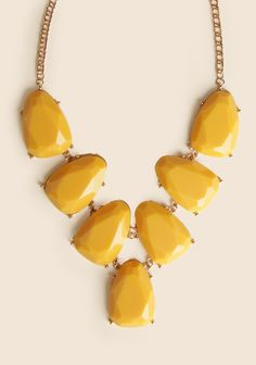 Crescent Cove Necklace In Mustard