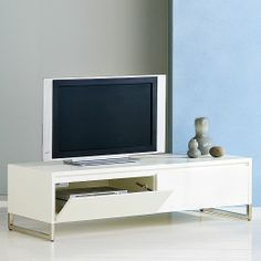 West Elm - Hudson Media Console   west elm. I'd like to get something like this to use as an entryway bench and shoe storage.