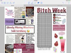 Period Tracker Digital Bujo #bujo #bulletjournal #tracker #periodtracker #monthlytracker